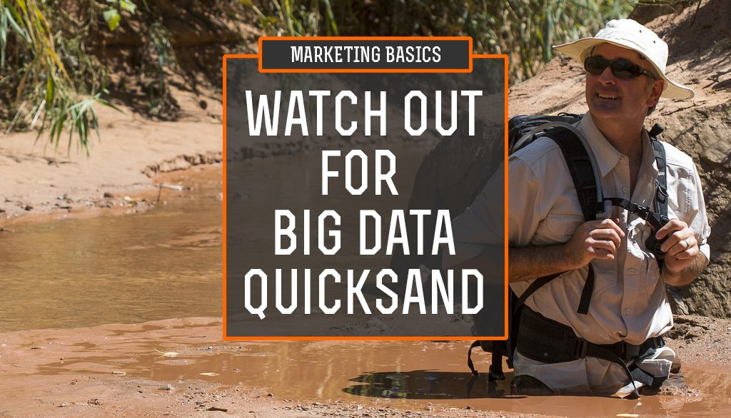 Watch Out for Big Data Quicksand