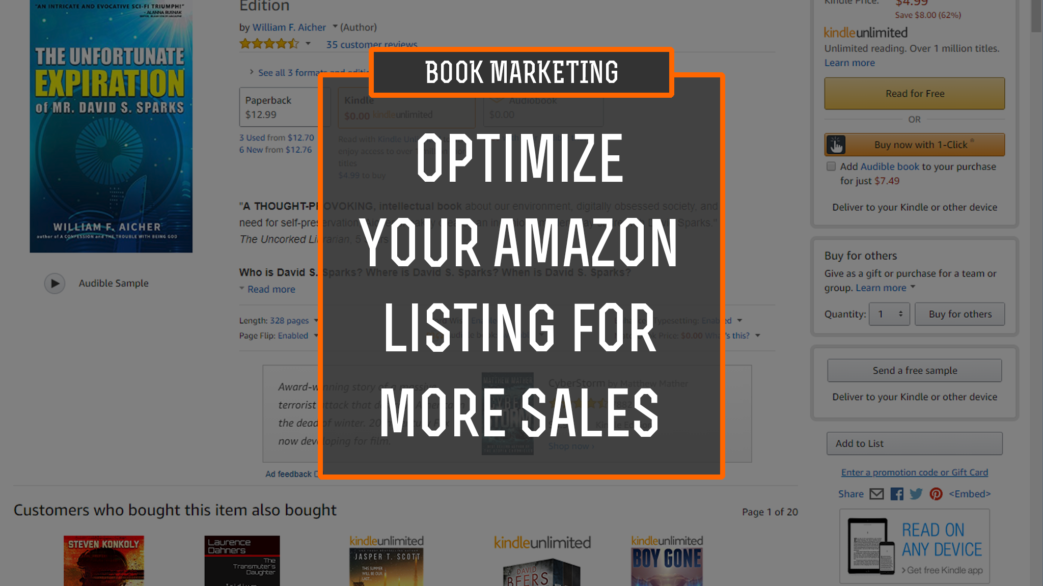 Book Marketing: optimize your amazon listing for more sales
